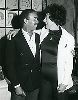 1978 Bobby Short & Ruth Olay pose at the  Brown Derby restaurant on Vine St. in Hollywood