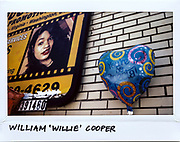 """A balloon for Community Activist William """"Willie"""" Cooper, 58-year-old, is seen next to a billboard in the 100 block of West 95th Street in Chicago, July 18, 2017. Cooper was shot in the mouth and torso from an AR-15 assault rifle during a drive-by shooting and died at the scene on July 15, 2017."""