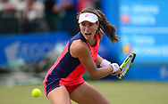 Johanna Konta (GBR) in action during her match against Yanina Wickmayer (BEL).. The Aegon Open Nottingham 2017, international tennis tournament at the Nottingham tennis centre in Nottingham, Notts , day 4 on Thursday 15th June 2017.<br /> pic by Bradley Collyer, Andrew Orchard sports photography.