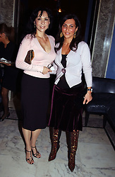 Left to right, MARIE HELVIN and ELLA KRASNER at a party to celebrate the launch of Michelle Watches held at the Blue Bar, The Berkeley Hotel, London on 7th October 2004.<br /><br />NON EXCLUSIVE - WORLD RIGHTS