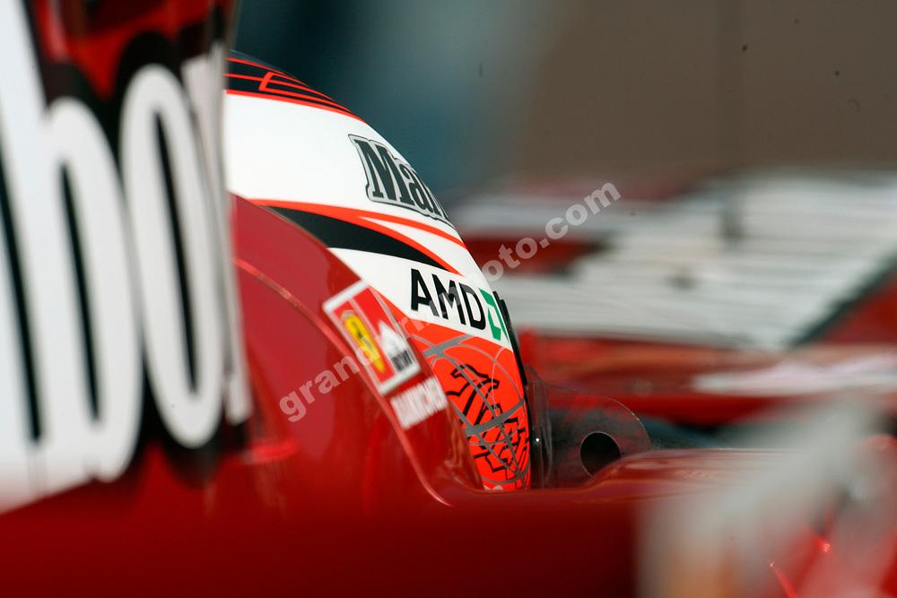 Ferrari driver Kimi Raikkonen in the pits during practice for the 2007 Monaco Grand Prix. Photo: Grand Prix Photo