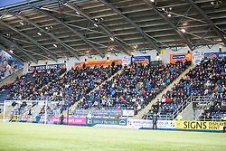 South stand. <br /> Falkirk 5 v 0 Alloa Athletic, Scottish Championship game played at The Falkirk Stadium.