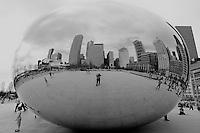 Self Portrait Reflection, Cloud Gate -- Millennium Park, Chicago Illinois. Image taken with a Nikon D200 and 12-24 mm f/4 lens (ISO 100, 12 mm, f/7, 1/180 sec).