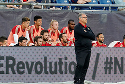 May 30, 2018 - Foxborough, MA, U.S. - FOXBOROUGH, MA - MAY 30: Atlanta United FC head coach Gerardo ''Tata'' Martino watches from the coaches box during a match between the New England Revolution and Atlanta United FC on May 30, 2018, at Gillette Stadium in Foxborough, Massachusetts. The Revolution and Atlanta played to a 1-1 draw. (Photo by Fred Kfoury III/Icon Sportswire) (Credit Image: © Fred Kfoury Iii/Icon SMI via ZUMA Press)