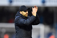 Bristol Rovers manager Ben Garner celebrates the 2-1 win at full time during the EFL Sky Bet League 1 match between Bristol Rovers and Blackpool at the Memorial Stadium, Bristol, England on 15 February 2020.