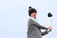 Paraic McGrath (Cregmore Park) on the 1st tee during Round 2 of the Connacht U16 Boys Amateur Open Championship at Galway Bay Golf Club, Oranmore, Galway on Wednesday 17th April 2019.<br /> Picture:  Thos Caffrey / www.golffile.ie