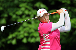 May 26, 2018 - Ann Arbor, Michigan, United States - Ariya Jutanugarn of Bangkok, Thailand follows her shot from the 5th tee during the third round of the LPGA Volvik Championship at Travis Pointe Country Club, Ann Arbor, MI, USA Saturday, May 26, 2018. (Credit Image: © Amy Lemus/NurPhoto via ZUMA Press)