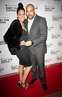 Candice Townsend and Brett Townsend at the TriForce Short Film Festival gala ceremony, BFI Southbank, London, UK - 30 Nov 2019