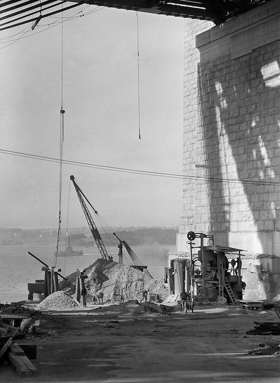 A Pylon of the Sydney Harbour Bridge, Australia,1930