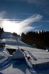 04-02-2011 SKIEN:  FIS ALPINE WORLD CHAMPIONSSHIP: GARMISCH PARTENKIRCHEN<br /> A general view of the slalom course<br /> **NETHERLANDS ONLY**<br /> ©2011-WWW.FOTOHOOGENDOORN.NL/NPH-Mitchell Gunn