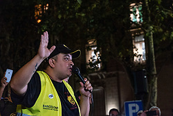August 1, 2018 - Barcelona, Catalonia, Spain - Tito Àlvarez, leader of the taxi drivers and founder of the taxi association called Élite is seen during the assembly. (Credit Image: © Paco Freire/SOPA Images via ZUMA Wire)