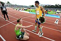 Friidrett , 9. juni 2016 , Diamond League , Bislett Games<br /> Athletics , <br /> Karsten Warholm , NOR400 m h<br /> Yasmani Copello , TUR ,  winner 400 m h