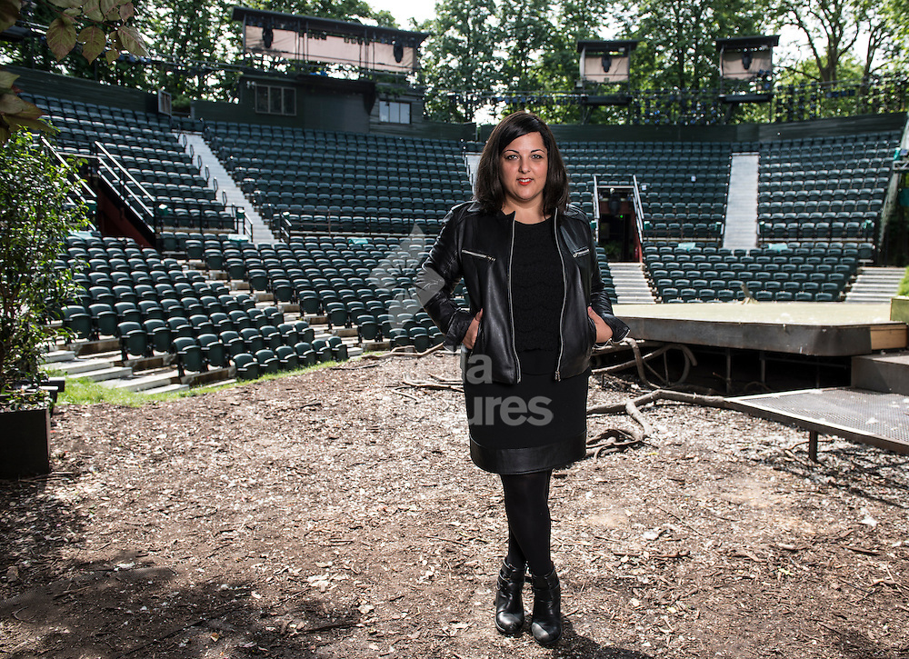 Theatre director and writer Nadia Fall pictured at the Regents Park Open air Theatre, London<br /> Picture by Daniel Hambury/Stella Pictures Ltd +44 7813 022858<br /> 02/06/2014
