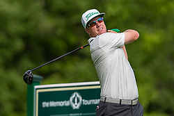 May 30, 2019 - Dublin, OH, U.S. - DUBLIN, OH - MAY 30: Charley Hoffman plays his shot from the 18th tee during the Memorial Tournament presented by Nationwide at Muirfield Village Golf Club on May 30, 2018 in Dublin, Ohio. (Photo by Adam Lacy/Icon Sportswire) (Credit Image: © Adam Lacy/Icon SMI via ZUMA Press)