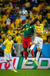 David Luiz na partida entre Brasil x Camarões, válida pela fase de grupos da Copa do Mundo 2014, no Estádio Maé Garrincha, em Brasíia. FOTO: Jefferson Bernardes/ Agência Preview