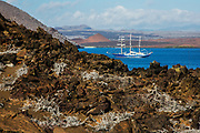 The M/S Mary Anne sailboat in Sullivan Bay, Bartolome Island, Galapagos Islands, Ecuador