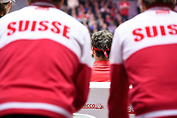 21.11.2014, Stade Pierre Mauroy, Lille, FRA, Davis Cup Finale, Frankreich vs Schweiz, im Bild Roger Federer (SUI) // during the Davis Cup Final between France and Switzerland at the Stade Pierre Mauroy in Lille, France on 2014/11/21. EXPA Pictures © 2014, PhotoCredit: EXPA/ Freshfocus/ Daniela Frutiger<br /> <br /> *****ATTENTION - for AUT, SLO, CRO, SRB, BIH, MAZ only*****