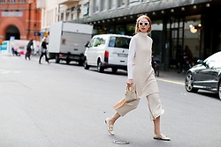 Street style, Maria Jernov arriving at Greta Gram Spring Summer 2017 show held at Stockholms Auktionsverk, Nybrogatan 32, in Stockholm, Sweden, on August 30th, 2016. Photo by Marie-Paola Bertrand-Hillion/ABACAPRESS.COM