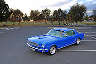 1965 Ford Mustang Sedan - Blue.Taylors Lake Reserve, Melbourne, Victoria.19th of April 2012.(C) Joel Strickland Photographics.Use information: This image is intended for Editorial use only (e.g. news or commentary, print or electronic). Any commercial or promotional use requires additional clearance.