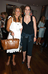 Left to right, CLARE INGLE-FINCH and VICTORIA AITKEN at a party to launch her atest collection held at Morton's, Berkeley Square, Lonon W1 on 11th September 2006.<br /><br />NON EXCLUSIVE - WORLD RIGHTS