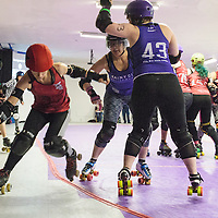 Rainy City Roller Derby Bet Lynch Mob take on Sunderland Roller Derby at The Thunderdome, King Street, Oldham, 2016-11-26