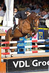 Motmans Jan (BEL) - Desteny van het Dennehof<br /> Belgisch Kampioenschap Jumping - Lanaken 2011<br /> © Hippo Foto - Leanjo de Koster