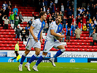 Football - 2021 / 2022 EFL Sky Bet Championship - Blackburn Rovers versus West Bromwich Albion - Ewood Park - Saturday 21st August 2021<br /> <br /> Ben Brereton-Diaz of Blackburn Rovers urges on the home crowd after he scores to make the score 1-2 early in the second half, at Ewood Park.<br /> <br /> COLORSPORT/Alan Martin