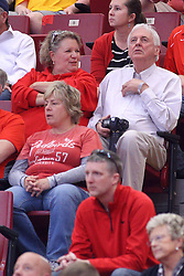 19 February 2017:  Sally and Ed Pyne during a College MVC (Missouri Valley conference) mens basketball game between the Loyola Ramblers and Illinois State Redbirds in  Redbird Arena, Normal IL