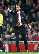 Manchester United's Louis Van Gaal looks <br /> <br /> Barclays Premier League- Arsenal vs Manchester United - Emirates Stadium - England - 22nd November 2014 - Picture David Klein/Sportimage