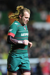 Scarlets replacement, Rhodri Williams - Photo mandatory by-line: Dougie Allward/JMP - Mobile: 07966 386802 - 16/01/2015 - SPORT - Rugby - Leicester - Welford Road - Leicester Tigers v Scarlets - European Rugby Champions Cup