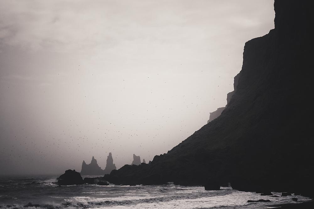 Cliffs and sea stacks, Vik