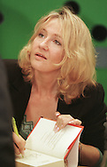 British author J K Rowling signing a copy of one of her books for children at the Edinburgh International Book Festival which opened on the 12th August. Ms Rowling is one of a number of high-profile celebrities who are attending this annual event.......