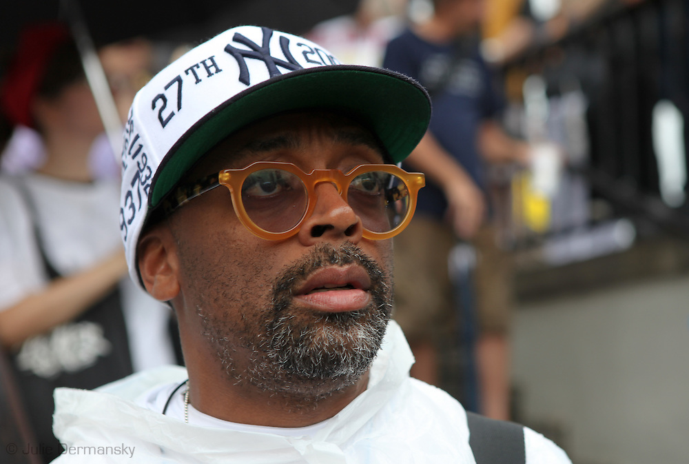 Spike Lee at a protest BP in New Orleans on Sunday May 30, 2010.