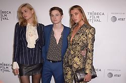 Andreja Pejic, a guest, Alina Baikova attending the premiere of the movie American Meme during the 2018 Tribeca Film Festival at Spring Studios in New York City, NY, USA on April 27, 2018. Photo by Julien Reynaud/APS-Medias/ABACAPRESS.COM