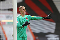 Football - 2020 / 2021 EFL Championship - AFC Bournemouth vs. Blackburn Rovers<br /> <br /> Thomas Kaminski of Blackburn Rovers gives some instructions to his defenders during the Championship match at the Vitality Stadium (Dean Court) Bournemouth <br /> <br /> COLORSPORT/SHAUN BOGGUST