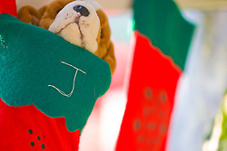 Christmas Stocking with Stuffed Toy
