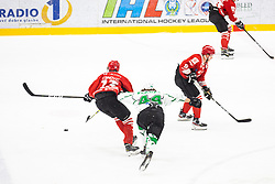 PLANKO David vs CRNOVIC Aljosa during summer Hockey League match between HK SZ Olimpija and HDD SIJ Jesenice, on September 12, 2020 in Ice Arena Bled, Bled, Slovenia. Photo by Peter Podobnik / Sportida
