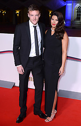 Jamie Vardy and wife Rebekah Vardy arriving at The Millies 2016, Guildhall, London. Picture Credit Should Read: Doug Peters/EMPICS Entertainment