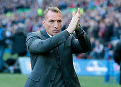 Celtic's manager Brendan Rodgers before play against Heart of Midlothian in the Betfred Cup semi final match at BT Murrayfield Stadium, Edinburgh.