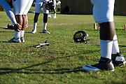 Grambling State University football players warm up before practice in Grambling, Louisiana on October 23, 2013.  (Cooper Neill for The New York Times)