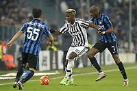 Paul Pogba Juventus, Geoffrey Kondogbia Inter,<br /> Torino 27-01-2016, Juventus Stadium, Football Calcio 2015/2016 Coppa Italia, Juventus - Inter, Foto Filippo Alfero/Insidefoto