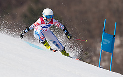 March 14, 2018 - Pyeongchang, South Korea - Ally Kunkel of the US during Giant Slalom competition Wednesday, March 14, 2018 at the Jeongson Alpine Center at the Pyeongchang Winter Paralympic Games. Photo by Mark Reis (Credit Image: © Mark Reis via ZUMA Wire)
