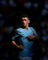 Manchester City'€™s Phil Foden in action