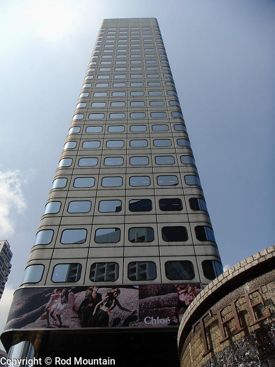 Tower as seen near the bottom of Hong Kong's Peak Tramway