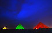 Son et lumière (sound and light show), Pyramids, Gizeh