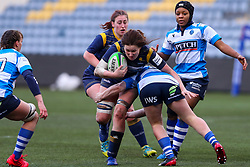 Elizabeth Shermer of Worcester Warriors Women hammers into the visitor's defence - Mandatory by-line: Nick Browning/JMP - 09/01/2021 - RUGBY - Sixways Stadium - Worcester, England - Worcester Warriors Women v DMP Durham Sharks - Allianz Premier 15s