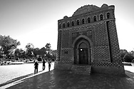 Samanid mausoleum is considered to be one of the most highly esteemed work of Central Asian architecture, and was built between 892 and 943 CE as the resting-place of Ismail Samani - a powerful and influential amir of the Samanid dynasty, one of the last native Persian dynasties that ruled in Central Asia in the 9th and 10th centuries.<br /> The shrine is regarded as one of the oldest monuments in the Bukhara region - at the time of Genghis Khan's invasion, the shrine was said to have already been buried in mud from flooding.