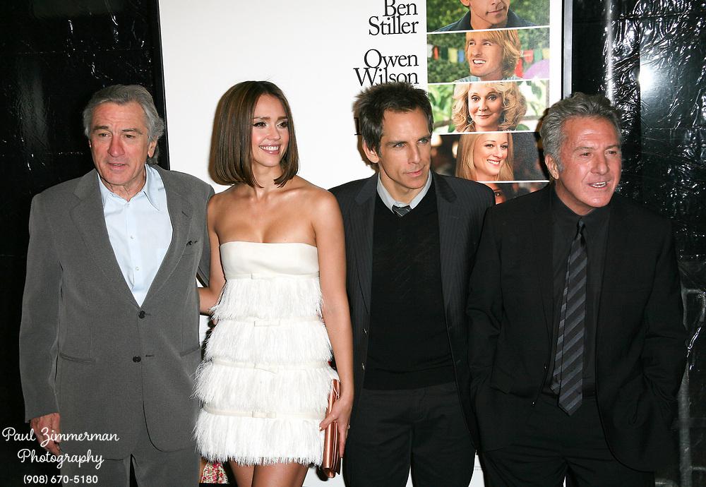 15 December 2010 - New York, NY -  Robert DeNiro, Jessica Alba, Ben Stiller, and Dustin Hoffman.  The world premiere of 'Little Fockers' at Ziegfeld Theatre on December 15, 2010 in New York City. Photo Credit: Paul Zimmerman/AdMedia