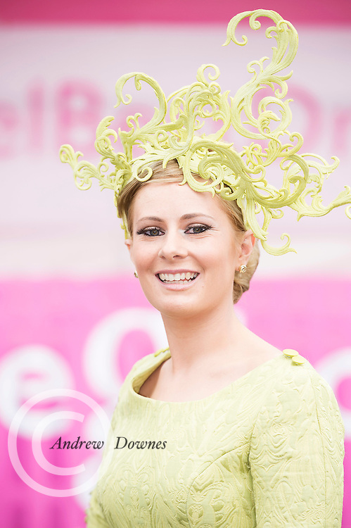 28/07/2016 repro free Stacy O'Leary from killarney Co. Kerry   at  the G Hotel's Best dressed Lady at the Galway Races  . Photo:Andrew Downes, XPOSURE.
