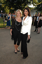 Left to right, MARIELLA FROSTRUP and actress GINA BELLMAN at the annual Serpentine Gallery Summer Party in association with Swarovski held at the gallery, Kensington Gardens, London on 11th July 2007.<br /><br />NON EXCLUSIVE - WORLD RIGHTS